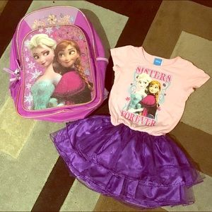 Frozen Backpack and Top Bundle